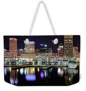 Harbor Nights In Baltimore Weekender Tote Bag