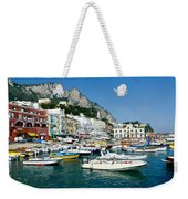 Harbor Of Isle Of Capri Weekender Tote Bag by Jon Berghoff