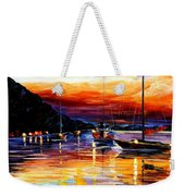 Harbor Of Messina - Sicily Weekender Tote Bag