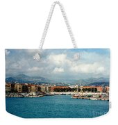 Harbor Scene In Nice France Weekender Tote Bag