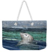 Harbor Seal Poking His Head Out Of The Water Weekender Tote Bag