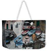 Harbor's Edge In Riomaggiore Weekender Tote Bag
