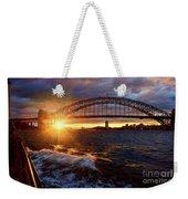 Harbour Bridge Sunset By Kaye Menner Weekender Tote Bag
