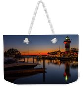 Harbour Town Lighthouse Sunset Weekender Tote Bag