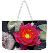 Hardy  Day Water Lily Weekender Tote Bag