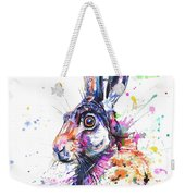 Hare In Grass Weekender Tote Bag