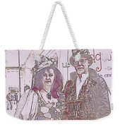 Harlequin Love Weekender Tote Bag