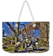 Harley Davidson And Brooklyn Bridge Weekender Tote Bag