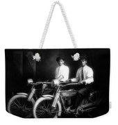 William Harley And Arthur Davidson, 1914 -- The Founders Of Harley Davidson Motorcycles Weekender Tote Bag