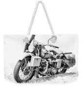 Harley Davidson Military Motorcycle Bw Weekender Tote Bag