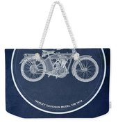 Harley Davidson Model 10b 1914, For Some There's Therapy, For The Rest Of Us There's Motorcycles Weekender Tote Bag