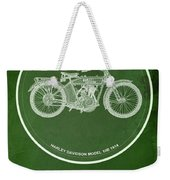 Harley Davidson Model 10b,1914 For Some There's Therapy, For The Rest Of Us There's Motorcycles Weekender Tote Bag