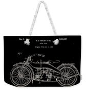 Harley Davidson Motor Cycle Patent 1924 Weekender Tote Bag