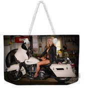 Harley Davidson Motorcycle Babe Weekender Tote Bag