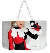 Harley Quinn And Pistol Weekender Tote Bag
