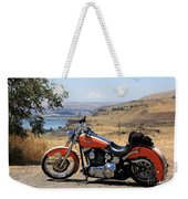 Harley With Columbia River And Mt Hood Weekender Tote Bag