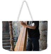 Harpist Street Musician, Barcelona, Spain Weekender Tote Bag