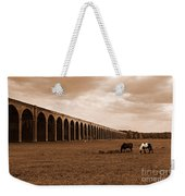 Harringworth Viaduct And Horses Grazing Weekender Tote Bag
