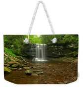 Harrison Wrights Falls In The Forest Weekender Tote Bag