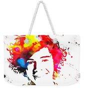 Harry Styles Paint Splatter Weekender Tote Bag