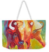 Hartsel Bison In Springtime Weekender Tote Bag