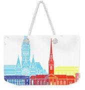 Harvard Ma Skyline Pop Weekender Tote Bag