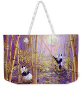 Harvest Moon Pandas  Weekender Tote Bag