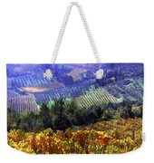 Harvest Time At The Vineyard Weekender Tote Bag