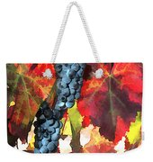Harvest Time Grapes And Leaves Weekender Tote Bag