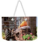 Harvest Time Vintage Farm With Pumpkins Weekender Tote Bag