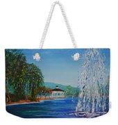 Harveston Lake Fountain Weekender Tote Bag