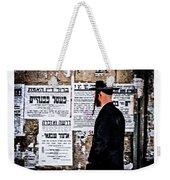 Hasadic Jew Reading Pashkevilin  Weekender Tote Bag