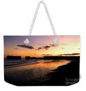 Hastings Harbour Arm At Sunset Weekender Tote Bag