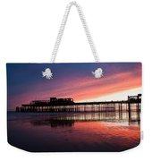 Hastings Pier - Purple Weekender Tote Bag