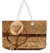 Hat And Lasso On A Fence Weekender Tote Bag