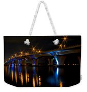 Hathaway Bridge At Night Weekender Tote Bag