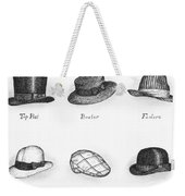 Hats Of A Gentleman Weekender Tote Bag by Adam Zebediah Joseph