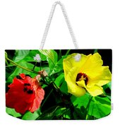 Hau Tree Blossoms Weekender Tote Bag