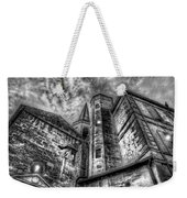 Haunted Church In Black And White Weekender Tote Bag