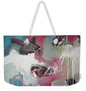 Haunted Voice-blue Red Painting Weekender Tote Bag