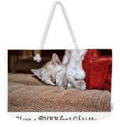 Have A Purrfect Christmas Weekender Tote Bag