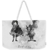 Have I Gone Mad? Black And White Weekender Tote Bag