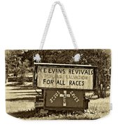 Have Miracle - Will Travel 2 - Sepia Weekender Tote Bag