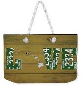 Hawaii State Love License Plate Art Phrase Weekender Tote Bag