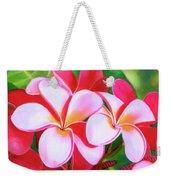 Hawaii Tropical Plumeria Flower #212 Weekender Tote Bag