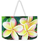 Hawaii Tropical Plumeria Flower #213 Weekender Tote Bag