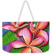 Hawaii Tropical Plumeria Flower #243 Weekender Tote Bag