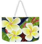 Hawaii Tropical Plumeria Flower #298, Weekender Tote Bag