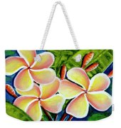 Hawaii Tropical Plumeria  Flower #314 Weekender Tote Bag