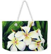 Hawaii Tropical Plumeria Flowers #160 Weekender Tote Bag